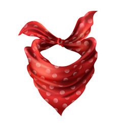 3d realistic red neck scarf neckerchief vector