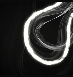 abstract background with neon waves eps vector image