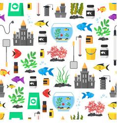 aquarium seamless pattern background vector image