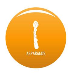 Asparagus icon orange vector