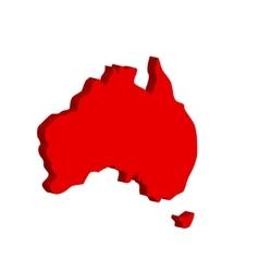 Australian continent Bulk vector image