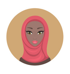 beautiful young lovely muslim woman girl portrait vector image