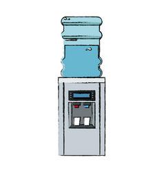 Bottle cooler water electric dispenser vector