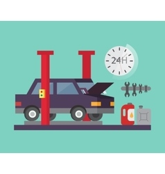 Car service Auto diagnostics and transport repair vector image