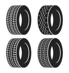 Car tire or rubber wheel for auto isolated vector image