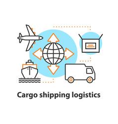 Cargo shipping logistics concept icon vector