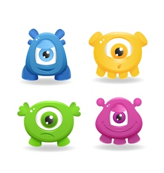 Cartoon cute monsters on white background vector