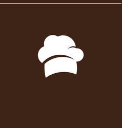 Chef hat template design vector