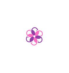circle colorful flower decorative logo vector image