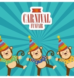 Circus carnival funfair graphic design vector