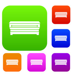 coffin set collection vector image