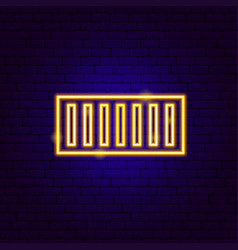 container neon sign vector image