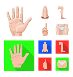 design of human and part symbol collection vector image