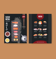 Design template with food watercolour graphic vector