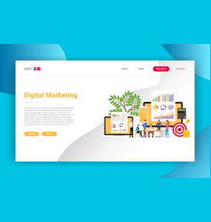 digital marketing business landing page campaign vector image