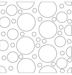 Dotted shape circle design memphis style vector
