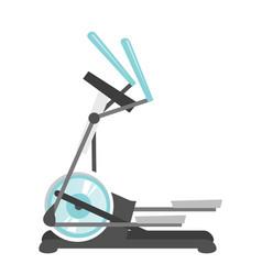 elliptical cross trainer machine cartoon vector image