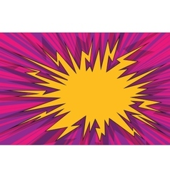 Explosive pop art background comics bubble vector image