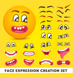 Face expression creation set vector