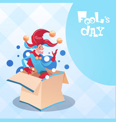 first april fool day happy holiday greeting card vector image