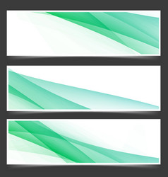 Fresh abstract spring header flyer set vector