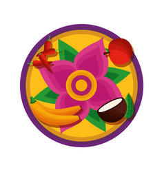 Fruit onam celebration design vector