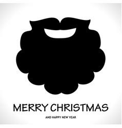 fun symbol santa claus face icon greeting card vector image
