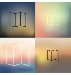 Geometric icon on blurred background vector