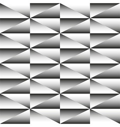 Geometric monochrome seamless pattern of triangles vector