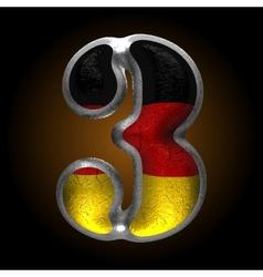 Germany metal figure 3 vector
