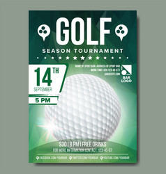 golf poster banner advertising sport vector image