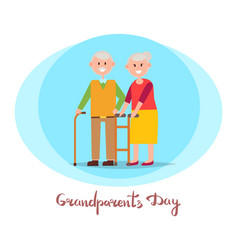grandparents day placard vector image