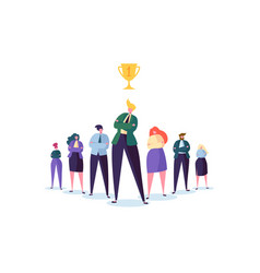 group of business people characters with leader vector image