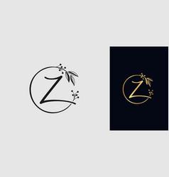 Handwritten signature logo for initial letter z vector