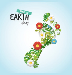 Happy earth day cutout card for environment care vector