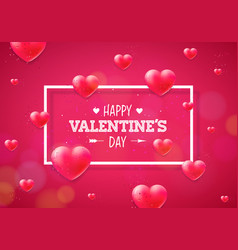 happy valentines day with heart on vector image