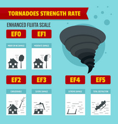 Hurricane storm banner infographic flat style vector