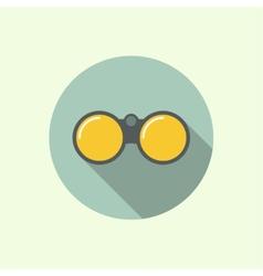 Icon of binoculars vector