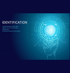 identification person identity fingerprint poster vector image
