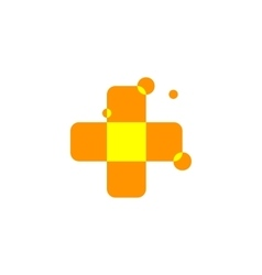 Isolated abstract orange color cross logo Medical vector
