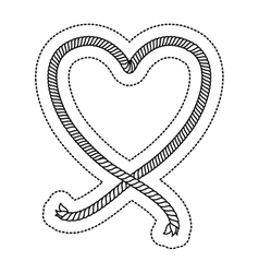 Isolated heart shape design vector