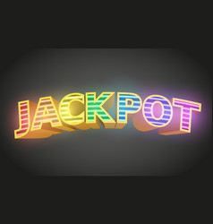 jackpot sign with on dark background casino vector image