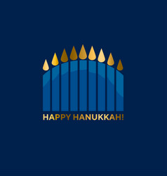 jewish menorah simple icon hanuka candles symbol vector image