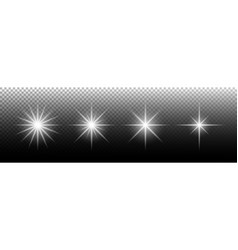 light effect glowing light effect stars special vector image