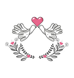 love heart cartoon vector image