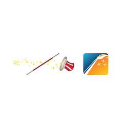 magic wand hat set vector image