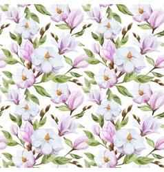 Magnolia pattern vector