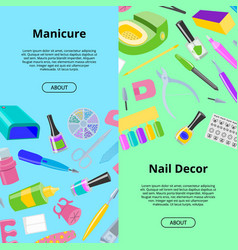 Manicure seamless pattern pedicure and vector