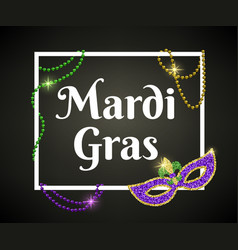 mardi gras card vector image