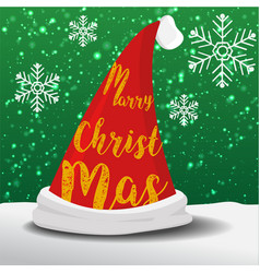 Marry christmas hat vector